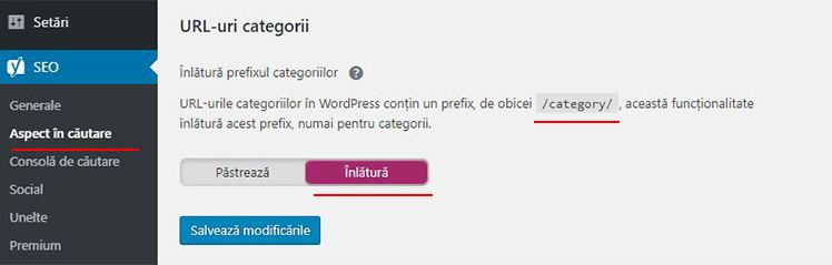 exclude categoria din url