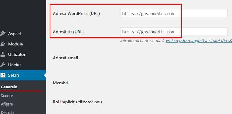 versiunea www sau non-www a url in wordpress